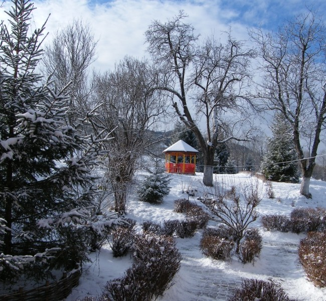 Shanti gazebo in winter 1
