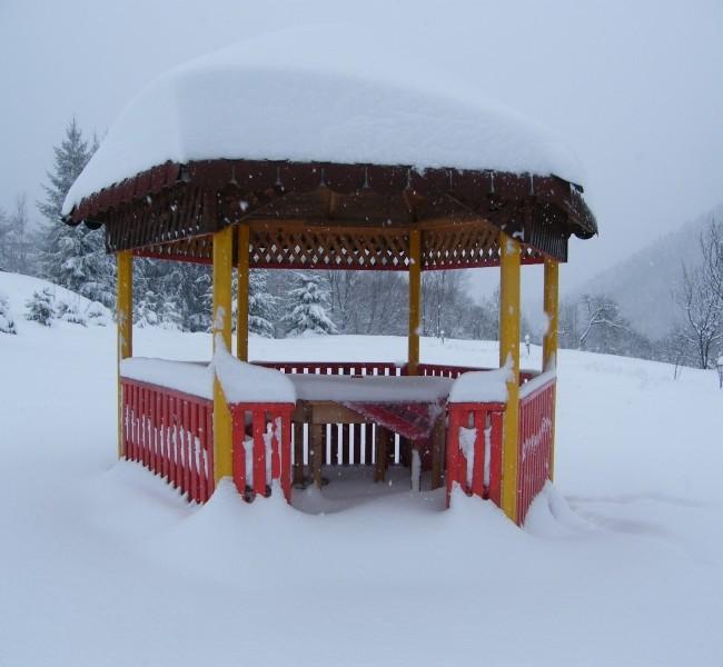 Shanti gazebo and  snow  winter