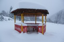 Shanti gazebo and  snow  winter